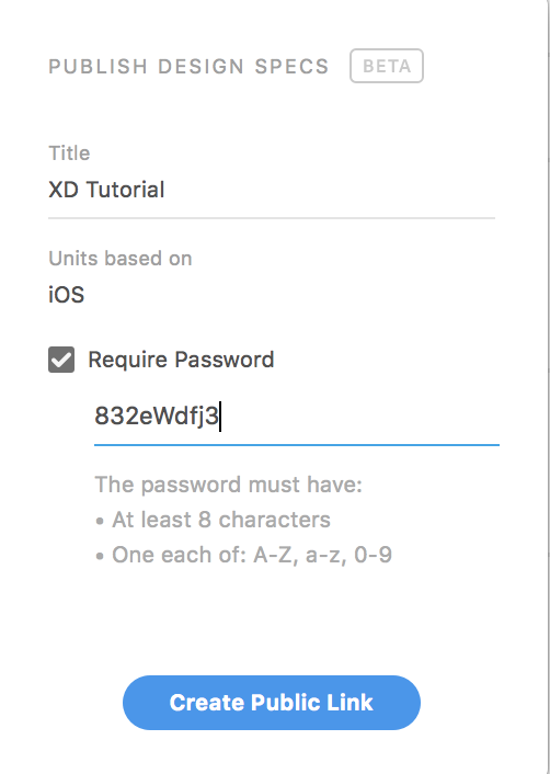 Password protect your design specs