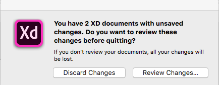 Pop up dialog to review changes