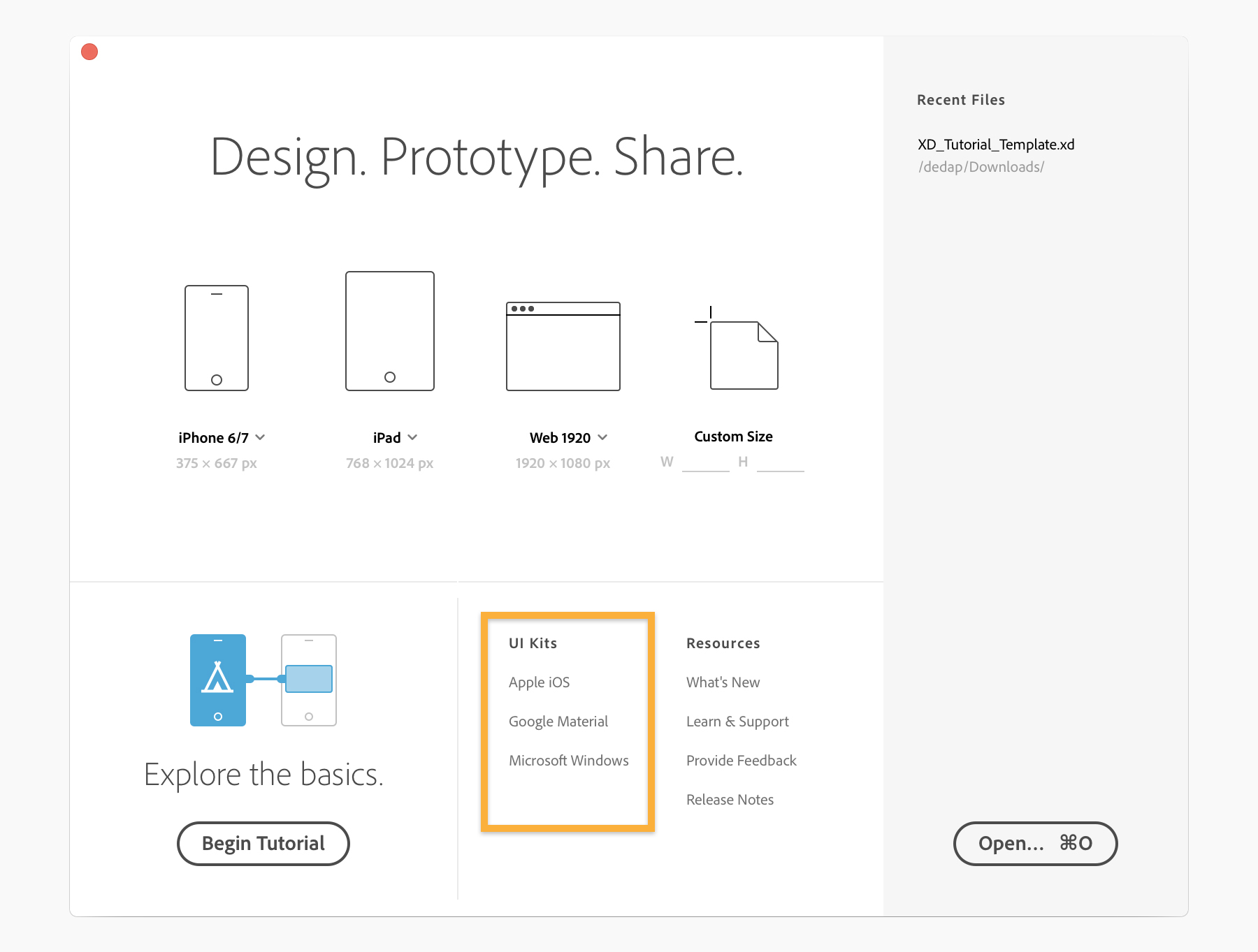 Designing an app with a UI resource or UI kit | Adobe XD tutorials