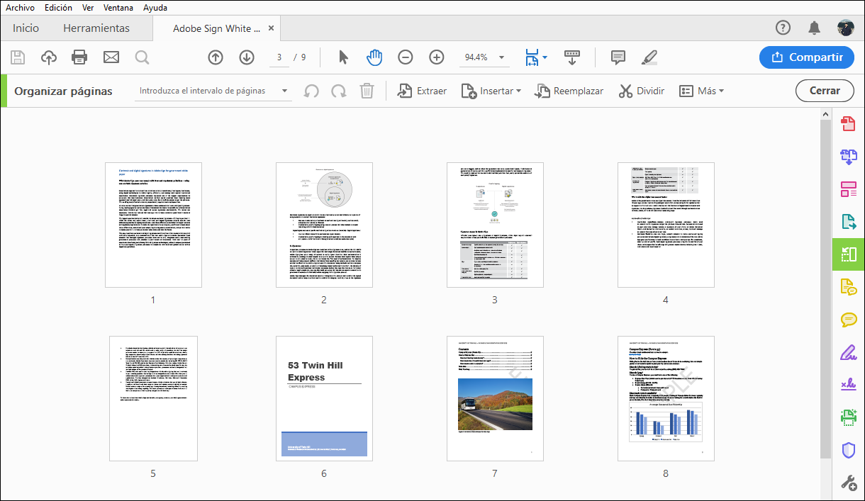 Rotar, mover, eliminar y volver a numerar las páginas de un PDF en ...