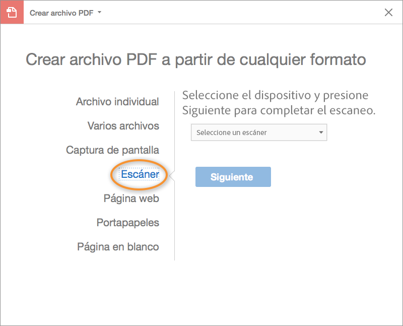 Escanear Documentos A Pdf Adobe Acrobat