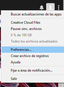 Preferencias de la aplicación de escritorio de Creative Cloud