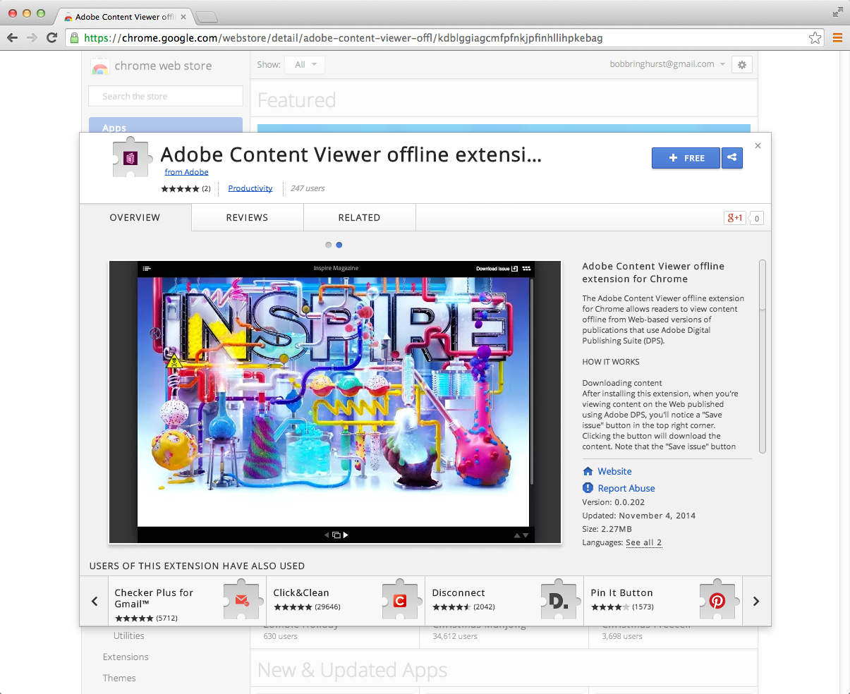 Adobe Content Viewer offline extension