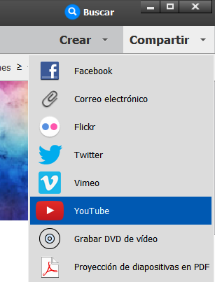 Uso compartido de vídeos en YouTube