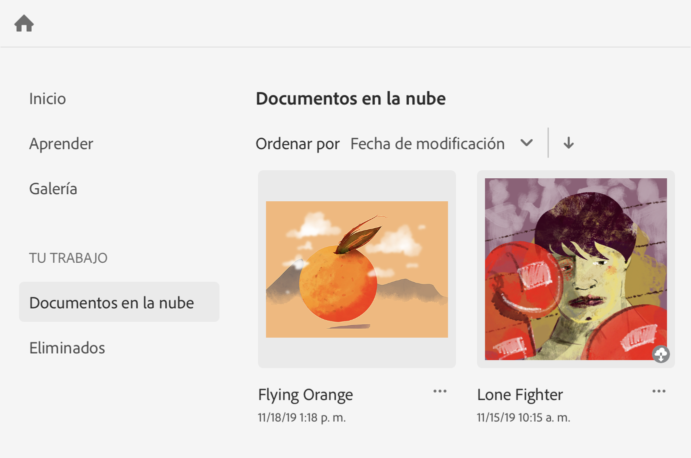 Documentos en la nube