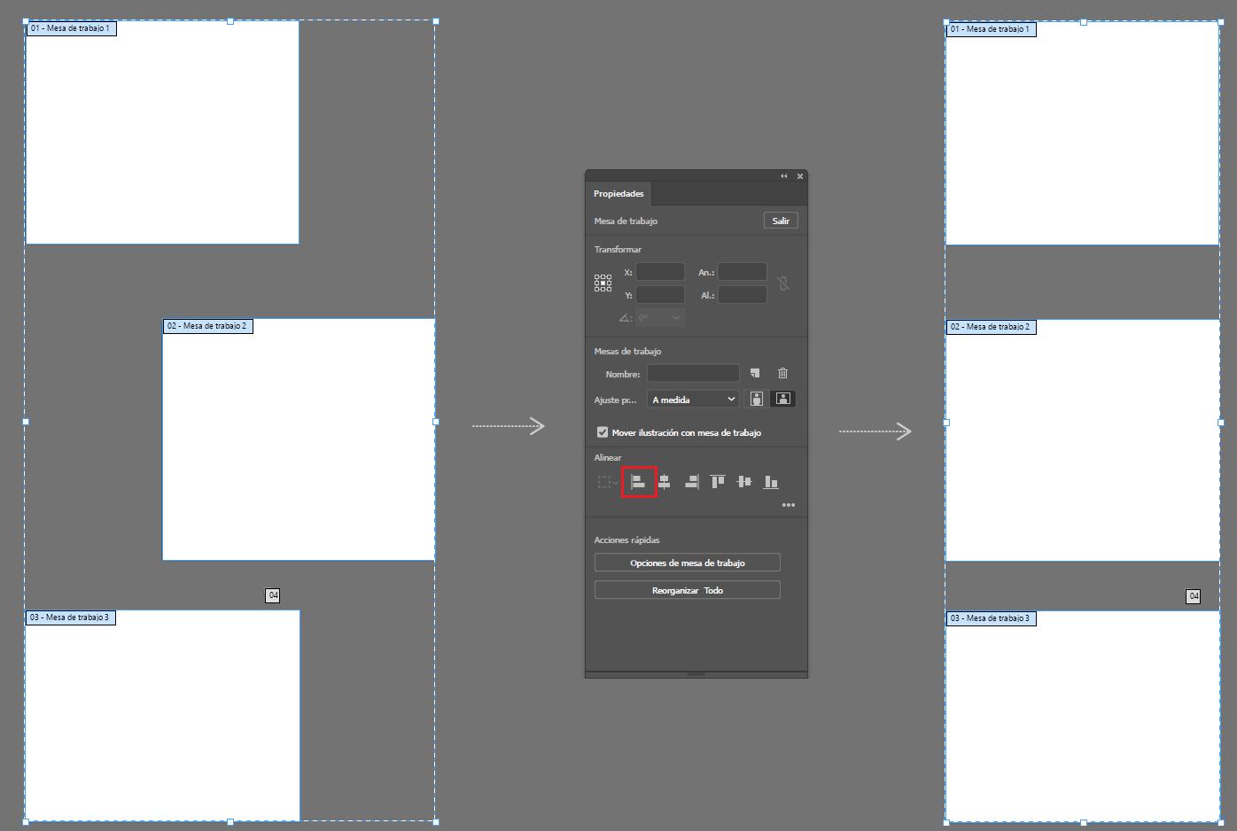 Cómo configurar varias mesas de trabajo en Illustrator