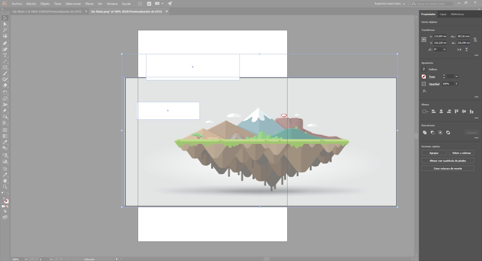 Aspectos básicos del espacio de trabajo de Illustrator