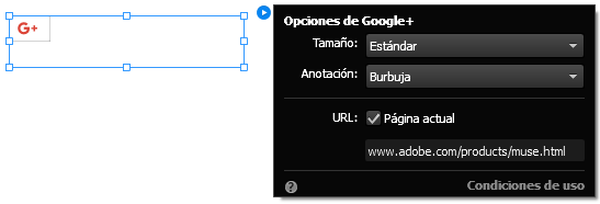 Configure el widget de Google Plus.