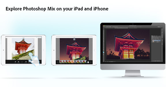 Explore Photoshop Mix en su iPad o iPhone con Photoshop