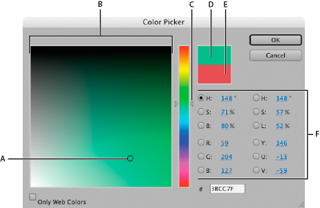 Selector de color de Adobe