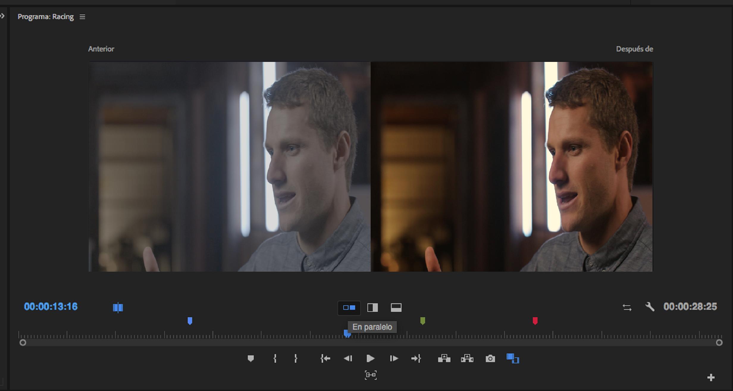 Uso de los monitores del programa de origen en Premiere Pro