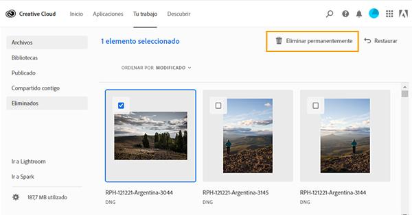Almacenamiento De Archivos Y Cuota De Creative Cloud