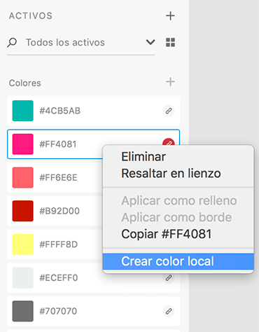 Convertir en color local