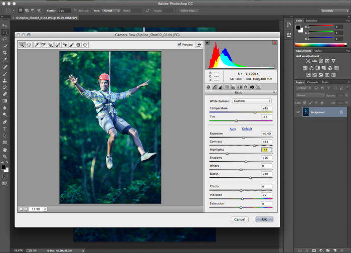 Photoshopin Camera Raw -suodin