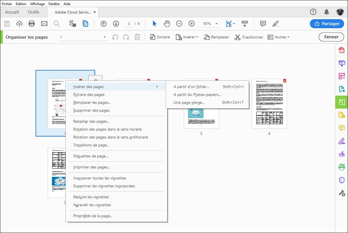 combinaison ou fusion de fichiers en un seul fichier pdf  adobe acrobat dc