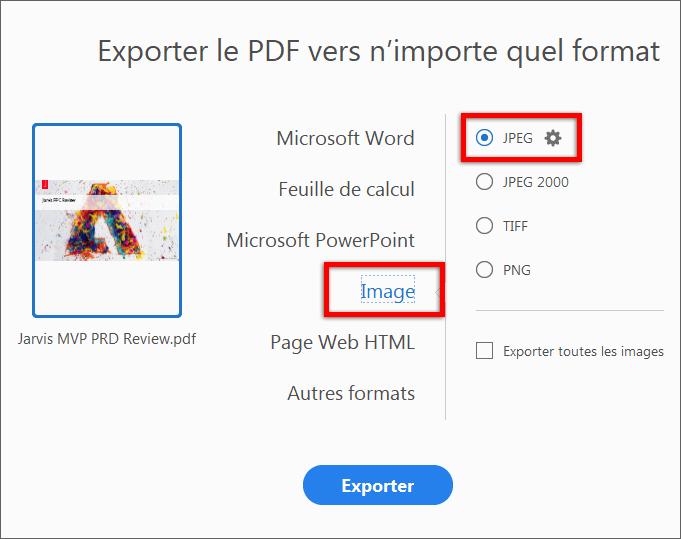 Conversion De Fichiers Pdf Au Format Jpg A L Aide D Adobe Acrobat