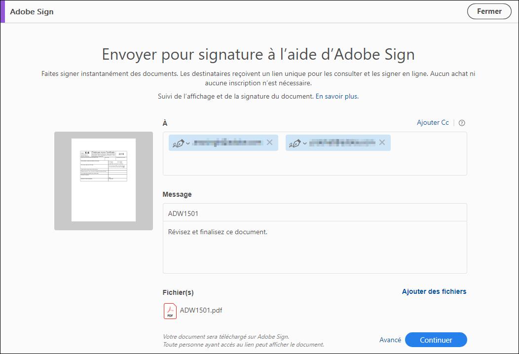Envoi De Documents Pdf Pour Signature Adobe Acrobat