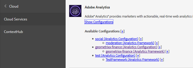 Configuration d'Adobe Analytics
