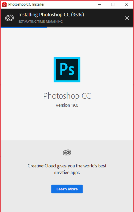 Installation de Photoshop