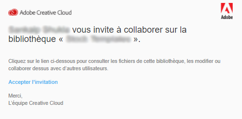 Creative Cloud Libraries collaboration invite
