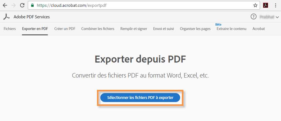 how to use adobe export pdf