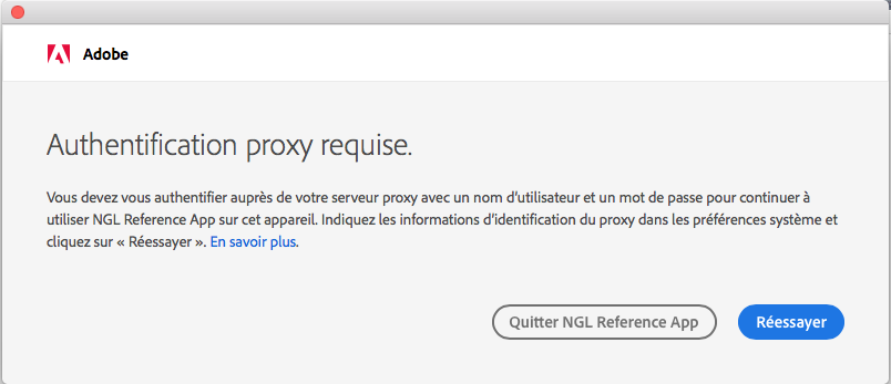 Authentification de proxy macOS