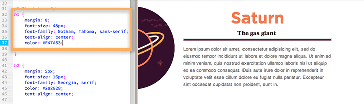 Modification de la couleur du texte