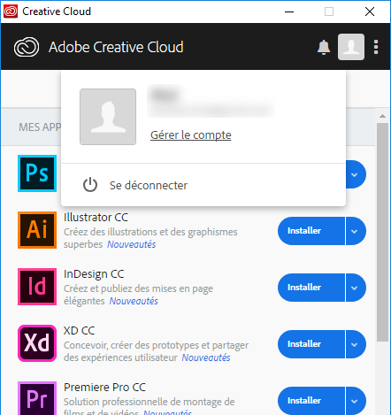 Application Creative Cloud