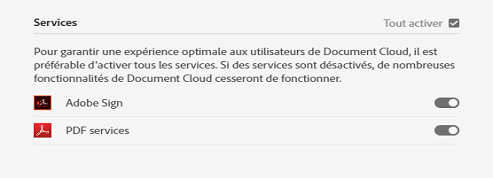 Profil de produit - Document Cloud