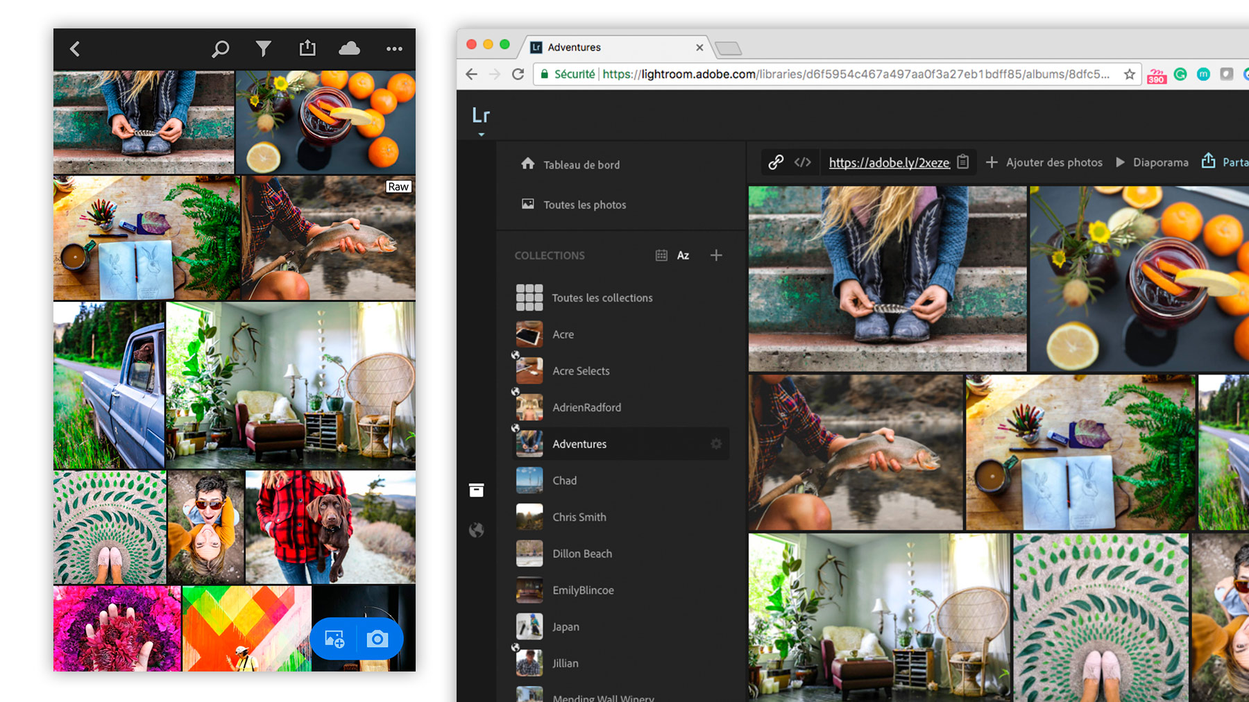 Lightroom CC sur un ordinateur