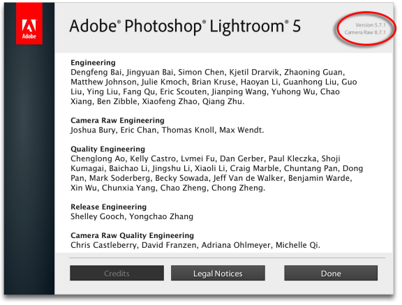 À propos d'Adobe Photoshop Lightroom