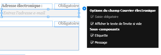 Ensemble d'options spécifique