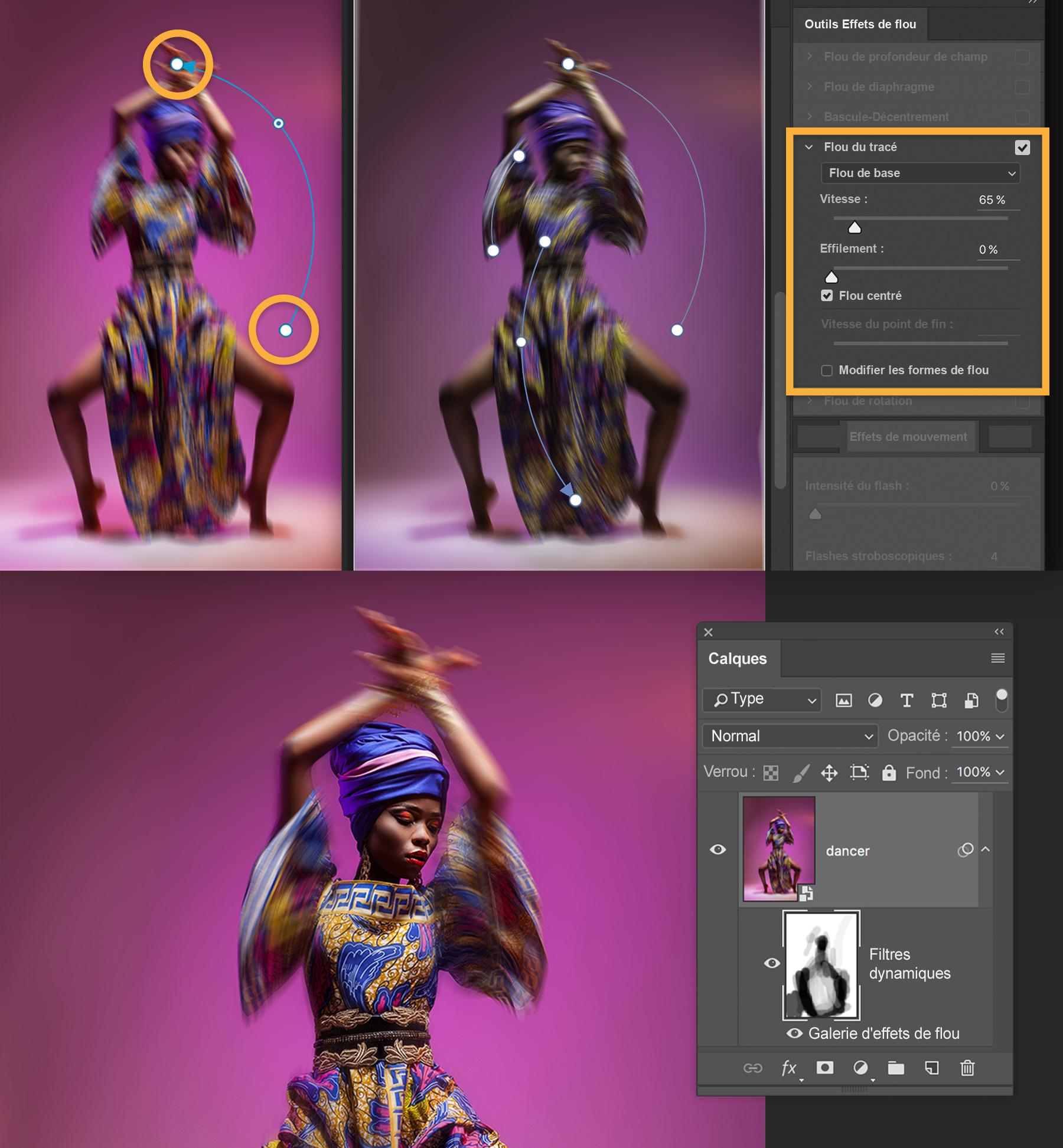 Utilisation Des Effets De Flou De Photoshop Pour Mettre En Mouvement Des Images Tutoriels Adobe Photoshop