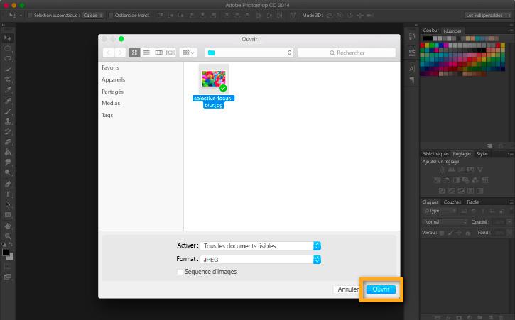 Application D Un Flou A L Arriere Plan D Un Point Focal Dans Adobe