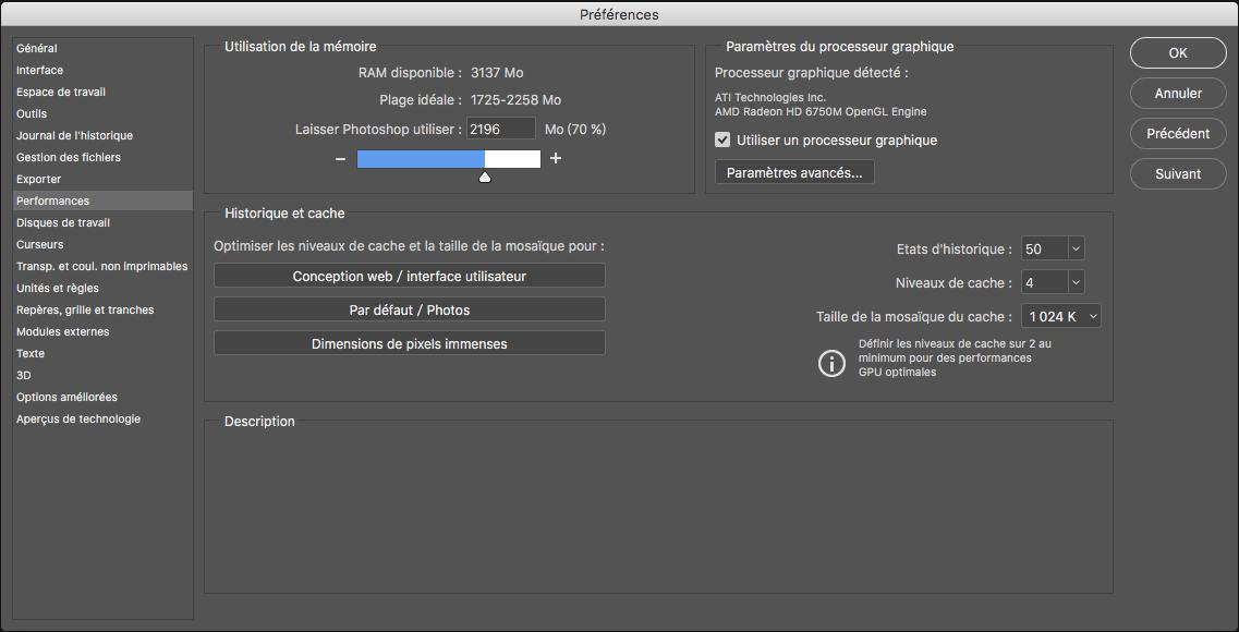 Optimisation Des Performances De Photoshop