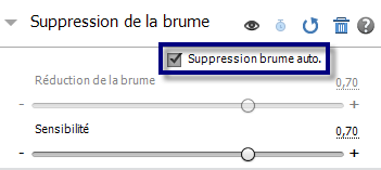 Suppression automatique de la brume