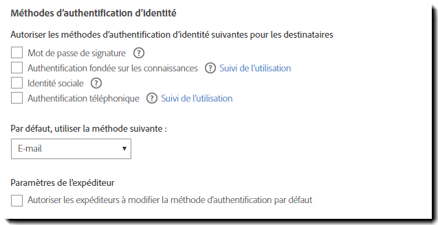 Méthodes d'authentification