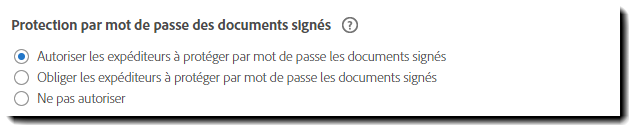 Protection par mot de passe des documents signés