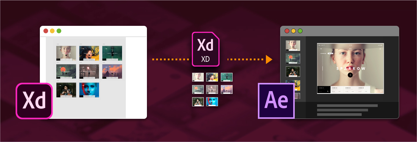 Exportation d'actifs vers After Effects