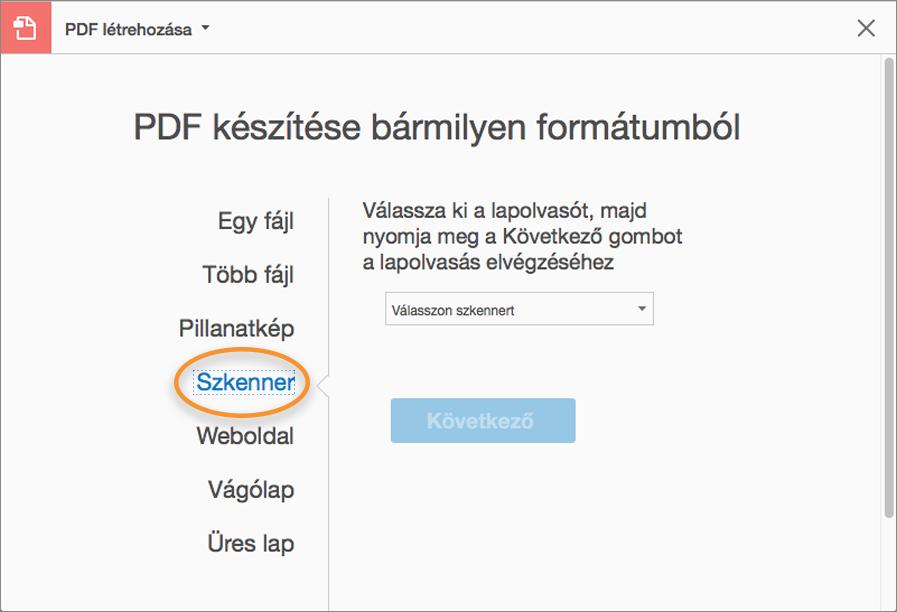 6893396da6 Papírdokumentum PDF formátumba szkennelésének beállításai Mac esetén