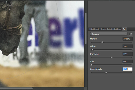 Életlenítési galéria a Photoshopban. A szemcsézettség zaj visszaállításával  az életlen területek életszerűbbnek látszanak 6f18daae3b