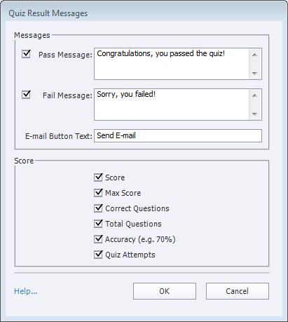 How to set quiz preferences for Adobe Captivate