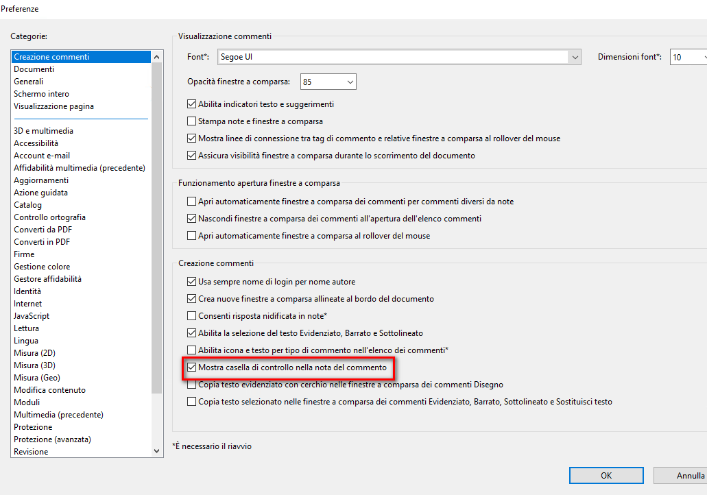c44b2f0fba Visualizzare, stampare e rispondere ai commenti in Adobe Acrobat