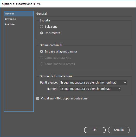 Esportare I Contenuti In Formato Html In Indesign Cc