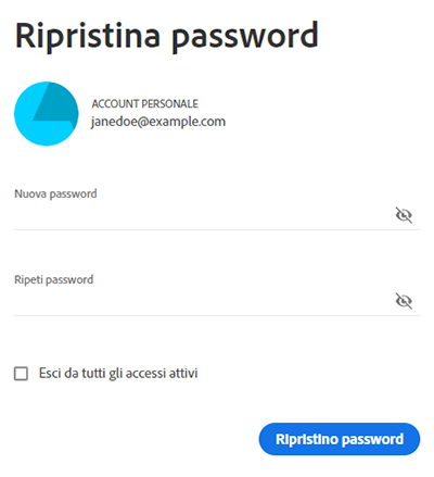 Immetti una nuova password