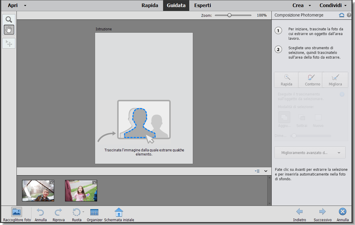 Modalità Guidata Modifiche Photomerge In Photoshop Elements