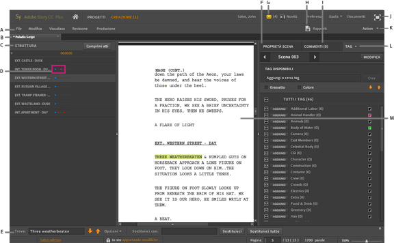 Guida introduttiva adobe story cc classic for Classic story adobe