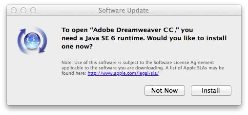 java se 6 ランタイム ダウンロード mac