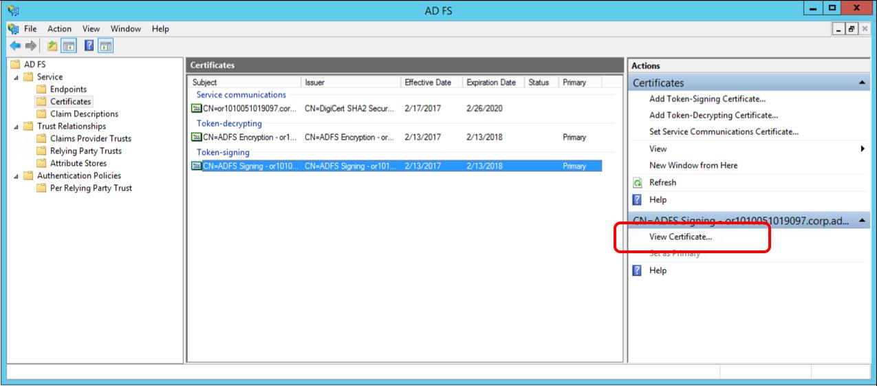 adobe sso で使用する microsoft ad fs の構成