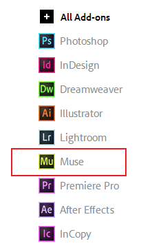 Creative Cloud から Add-ons を取得